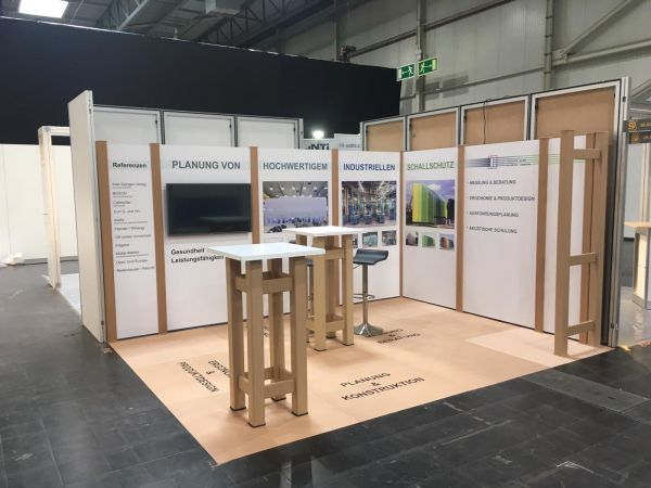 12m² FlexiWall Stand complete