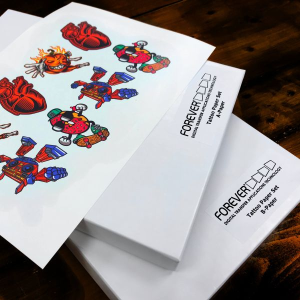 FOREVER Tattoo Paper (SET aus A-Foil & B-Paper)